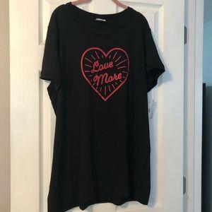 NWT Lularoe Love More 3x Liv T Shirt
